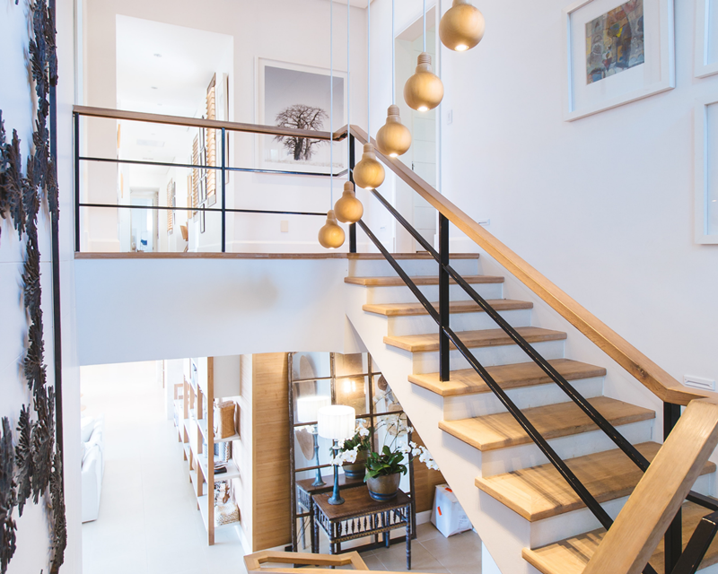 Staircase to next level of house