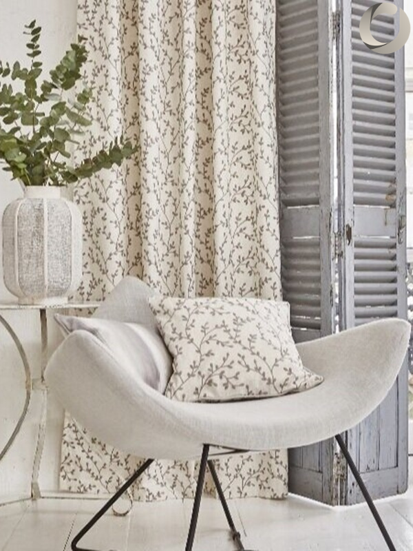 Chair and curtain decor